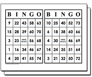 Sweet image with regard to free printable bingo cards 1-75