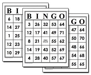 picture about Printable Bingo Cards for Kids identify Match  Sport Director and Recreation